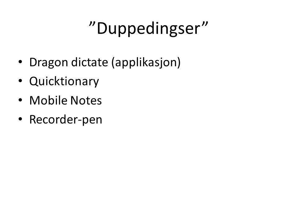 Duppedingser Dragon dictate (applikasjon) Quicktionary Mobile Notes
