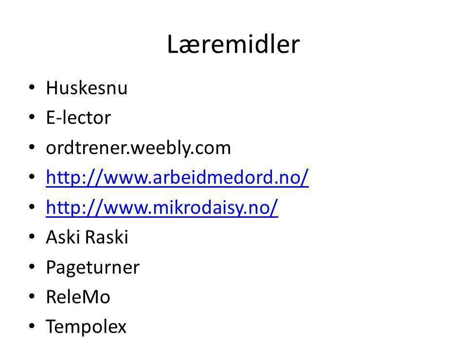 Læremidler Huskesnu E-lector ordtrener.weebly.com
