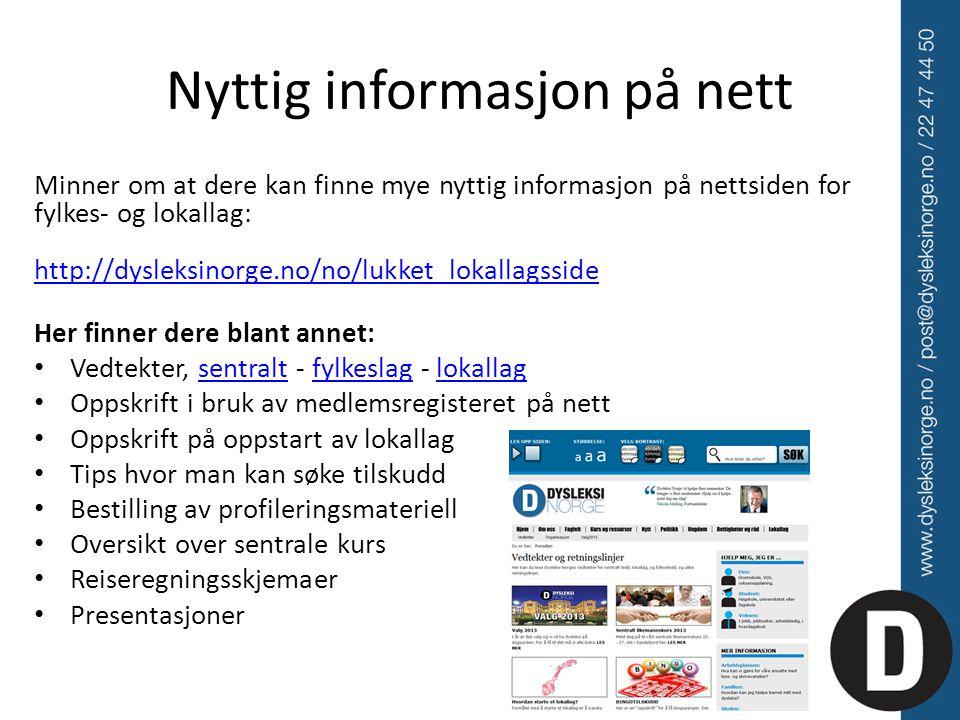 Nyttig informasjon på nett