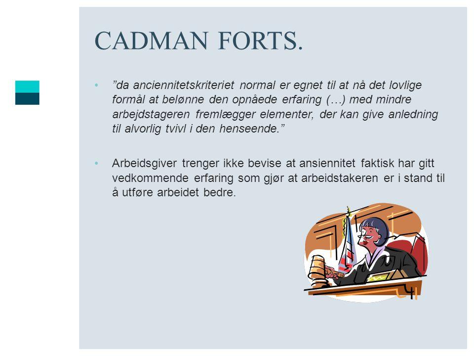 CADMAN FORTS.
