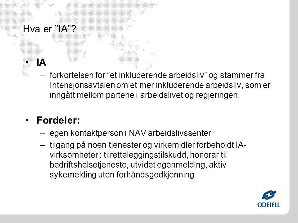 Hva er IA IA Fordeler: