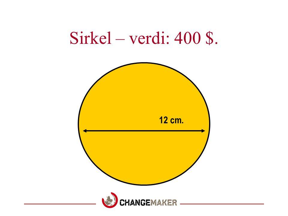 Sirkel – verdi: 400 $. 12 cm.