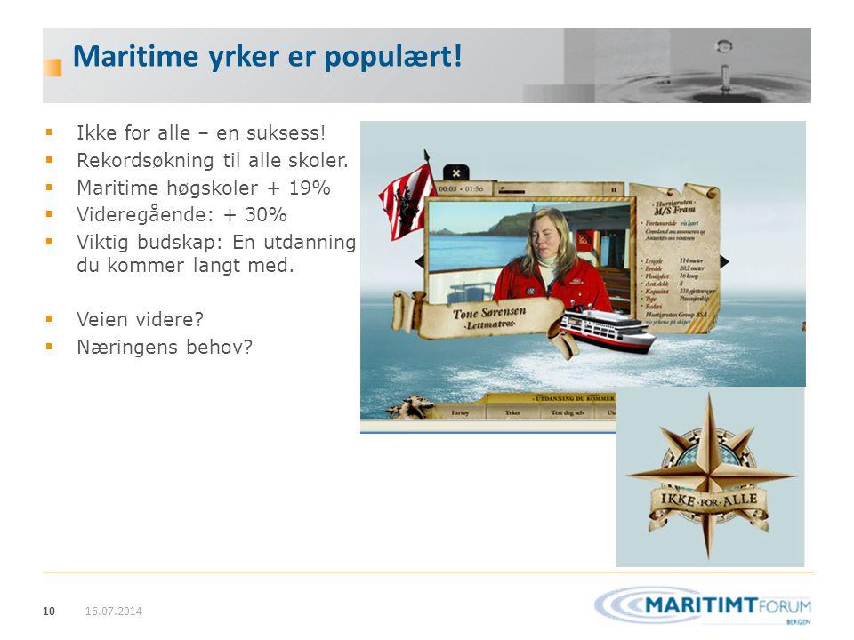 Maritime yrker er populært!