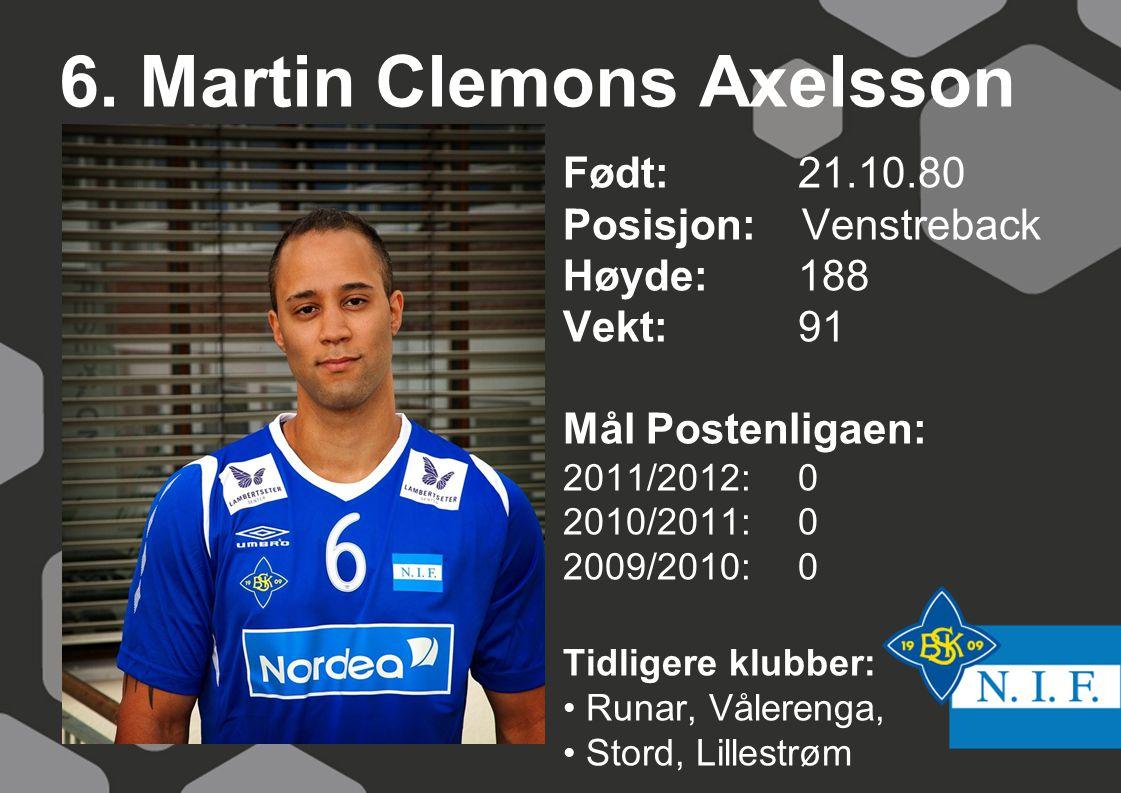 6. Martin Clemons Axelsson