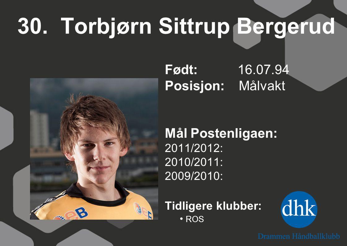 30. Torbjørn Sittrup Bergerud