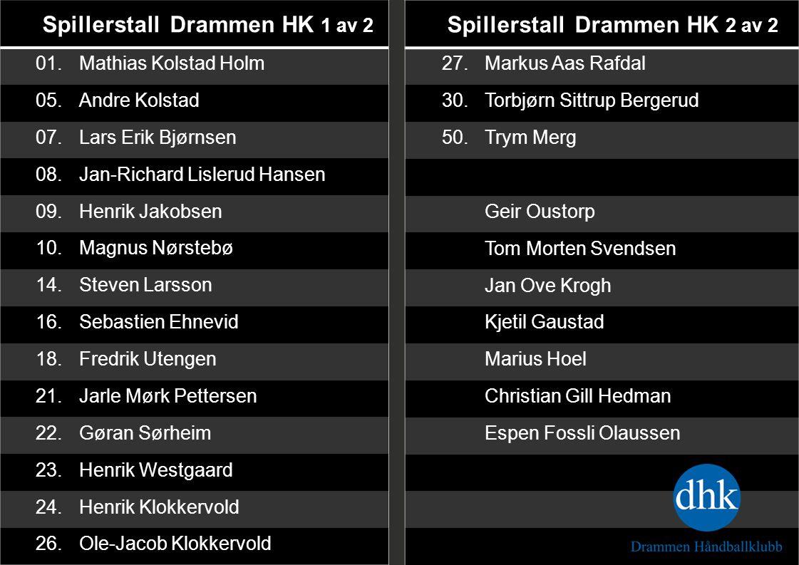 Spillerstall Drammen HK 1 av 2 Spillerstall Drammen HK 2 av 2
