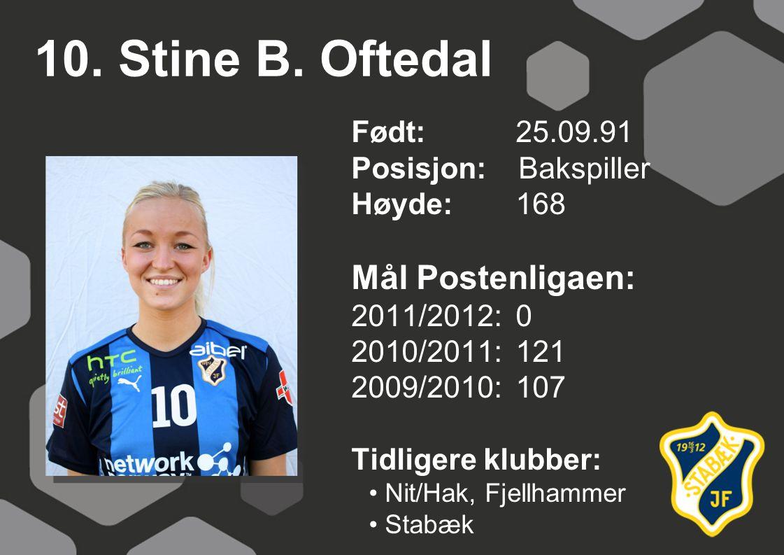 10. Stine B. Oftedal Mål Postenligaen: