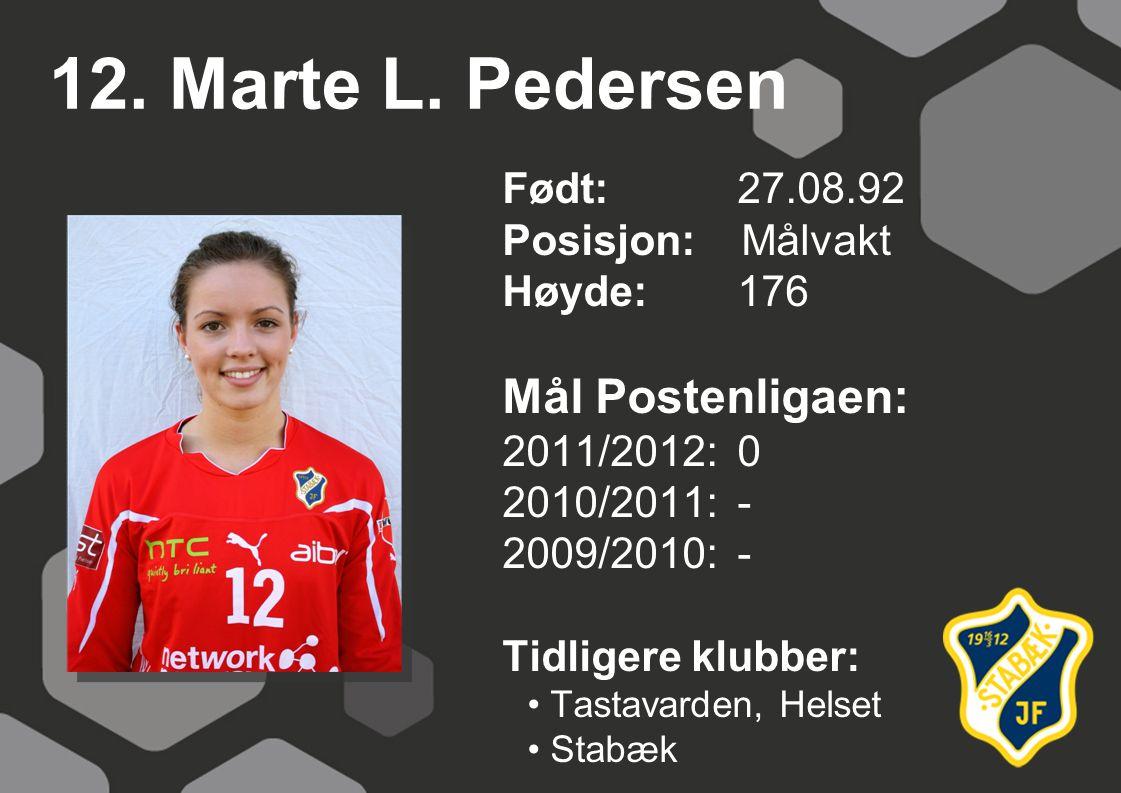12. Marte L. Pedersen Mål Postenligaen: