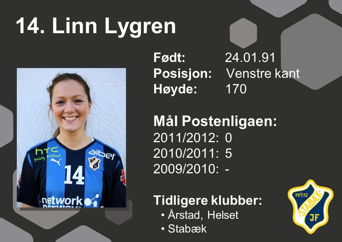 14. Linn Lygren Mål Postenligaen: