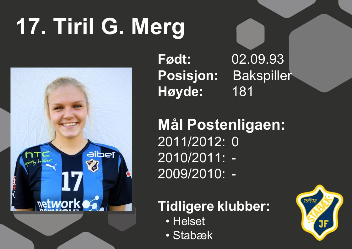 17. Tiril G. Merg Mål Postenligaen: