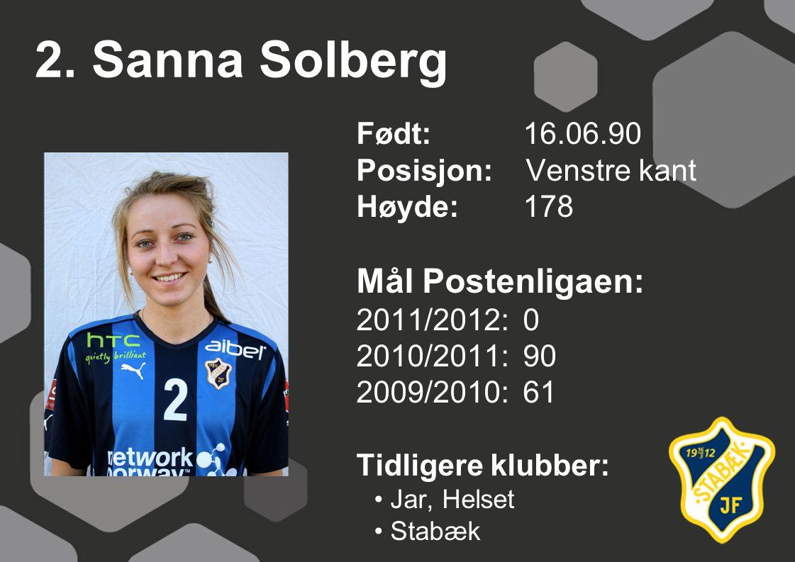 2. Sanna Solberg Mål Postenligaen: