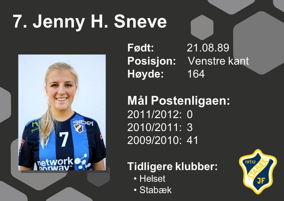 7. Jenny H. Sneve Mål Postenligaen: