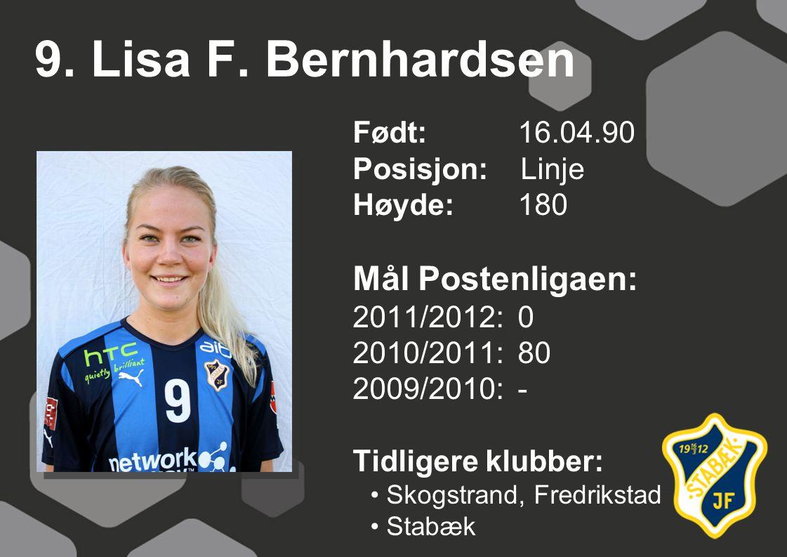 9. Lisa F. Bernhardsen Mål Postenligaen: