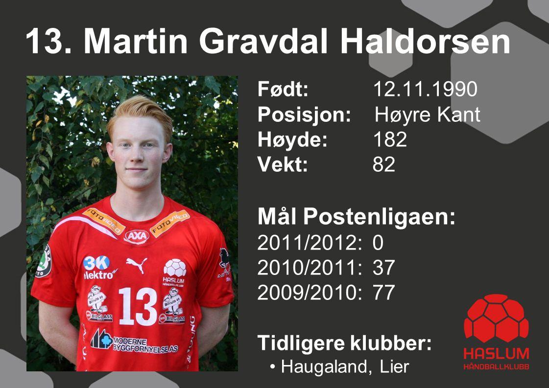 13. Martin Gravdal Haldorsen