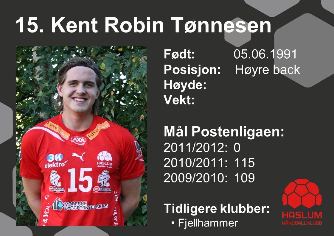 15. Kent Robin Tønnesen Mål Postenligaen: