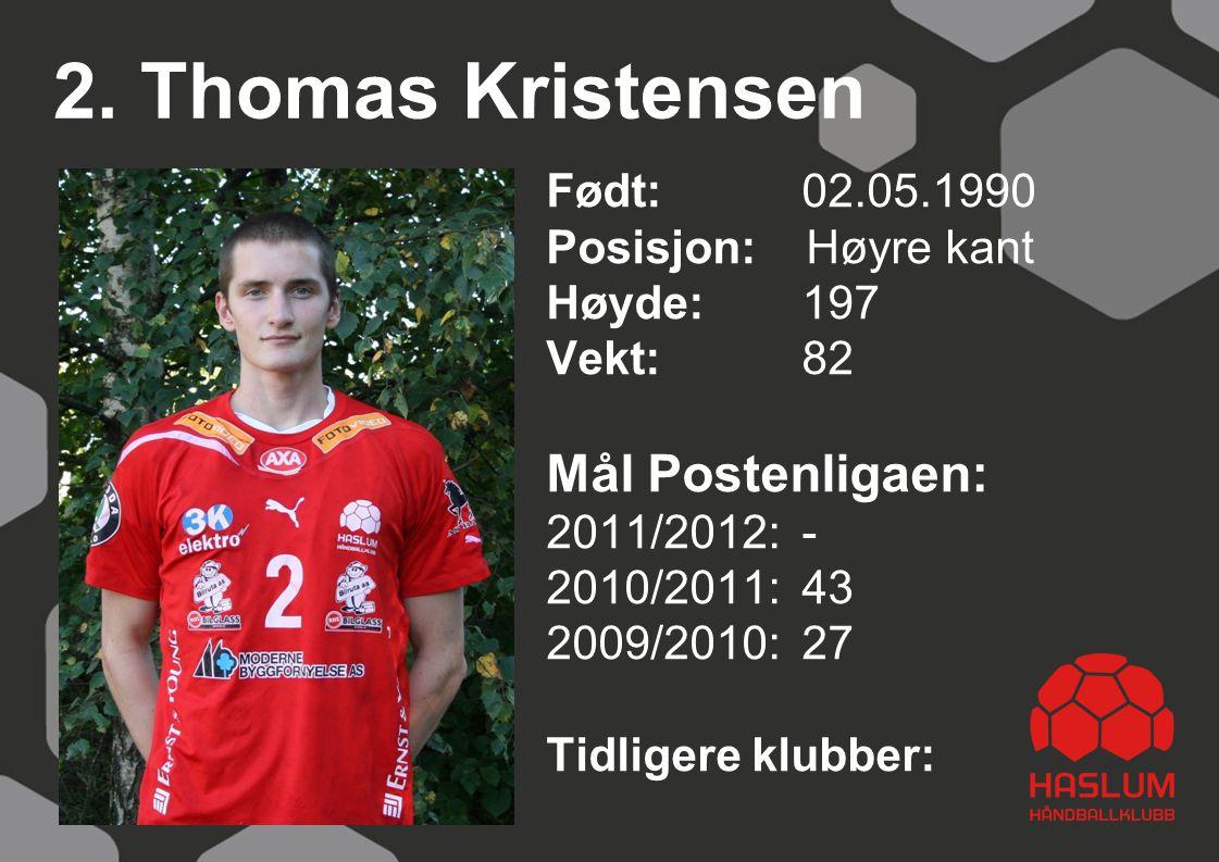 2. Thomas Kristensen Mål Postenligaen: