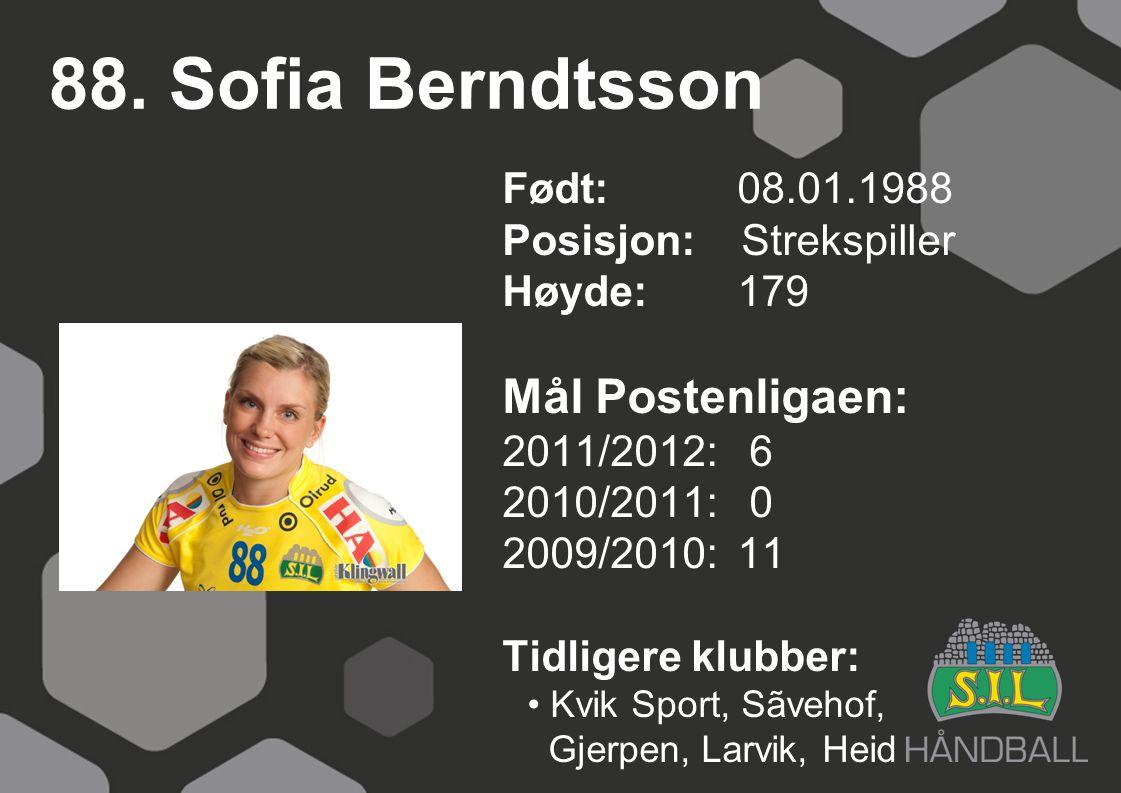 88. Sofia Berndtsson Mål Postenligaen: