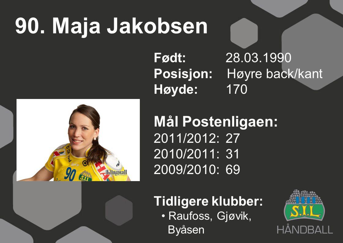 90. Maja Jakobsen Mål Postenligaen: