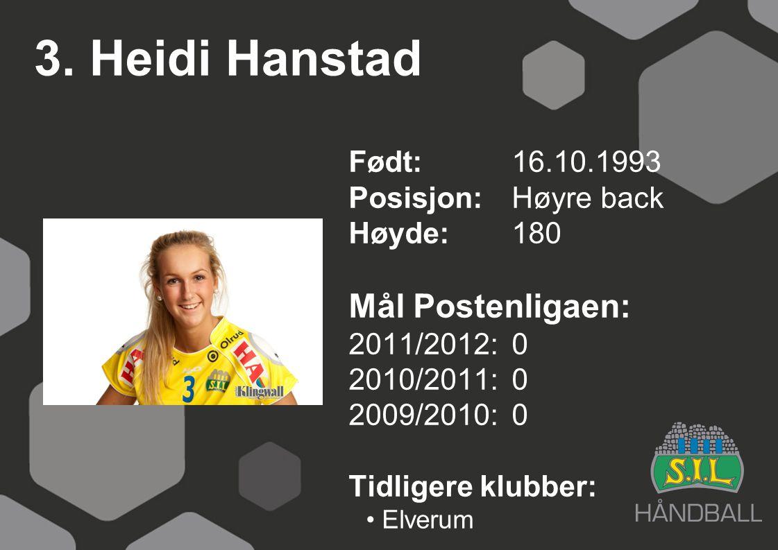 3. Heidi Hanstad Mål Postenligaen: