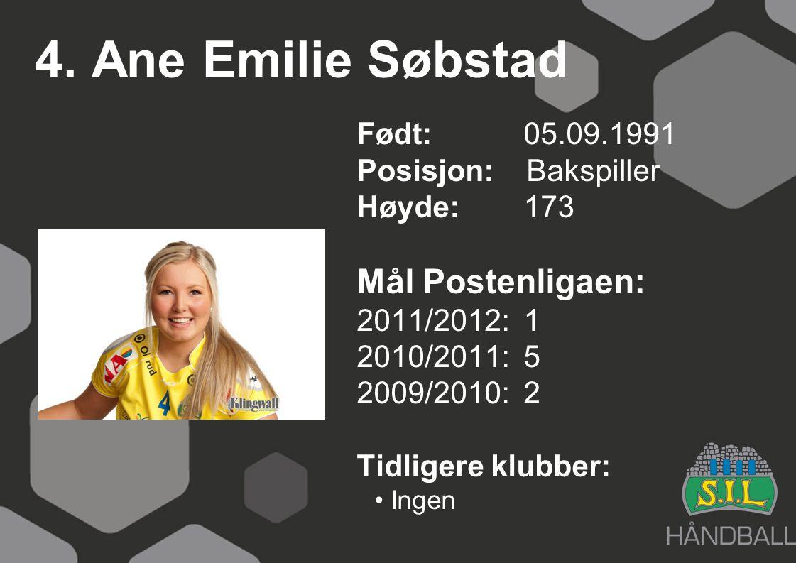 4. Ane Emilie Søbstad Mål Postenligaen:
