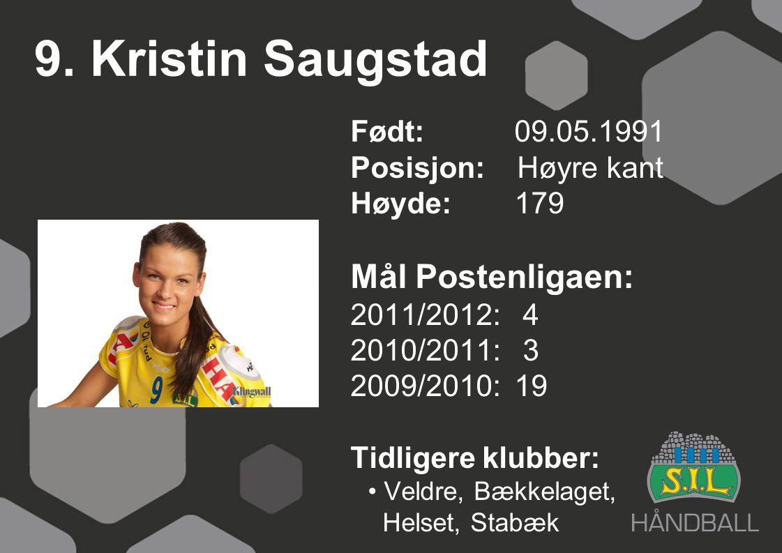9. Kristin Saugstad Mål Postenligaen: