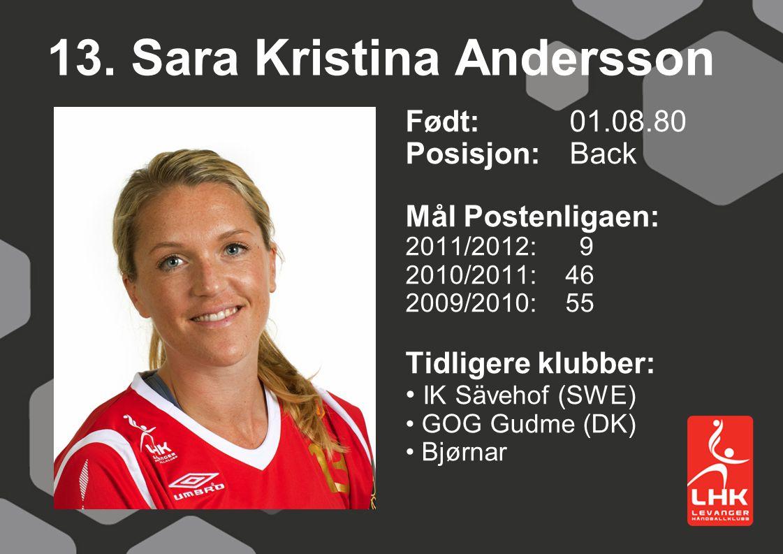13. Sara Kristina Andersson
