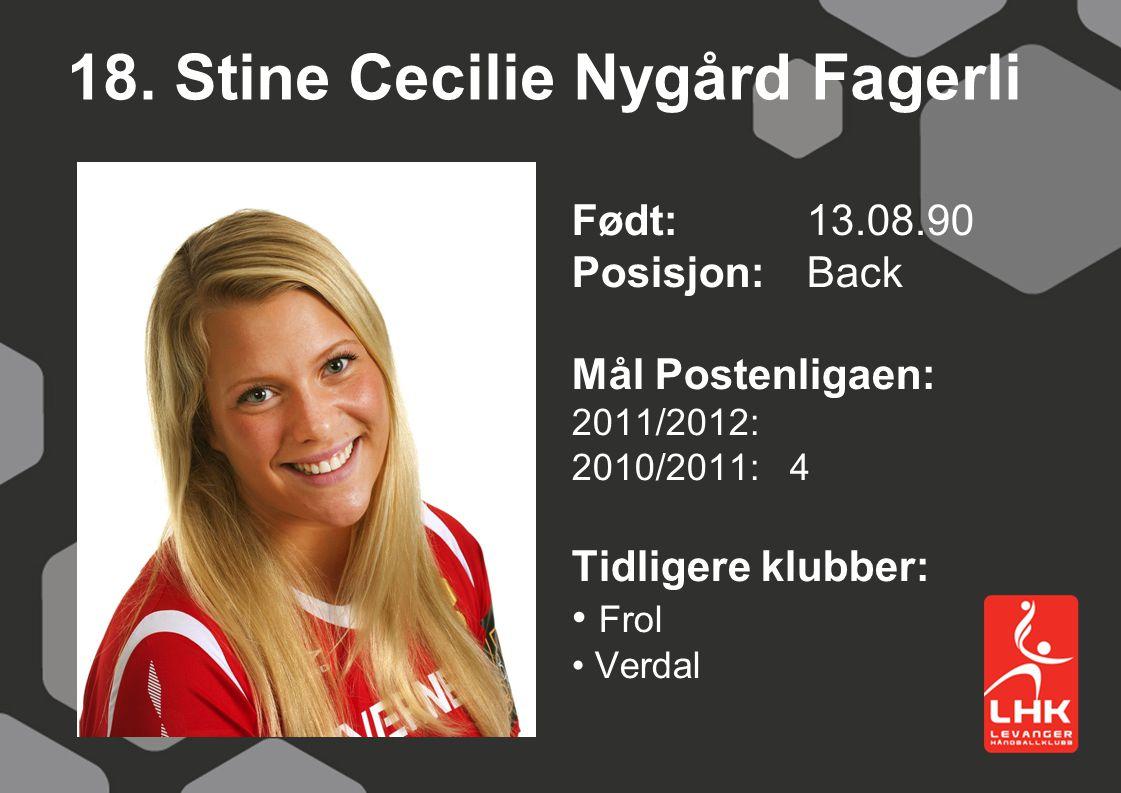 18. Stine Cecilie Nygård Fagerli