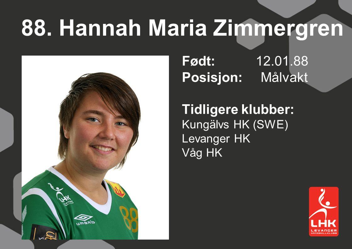 88. Hannah Maria Zimmergren