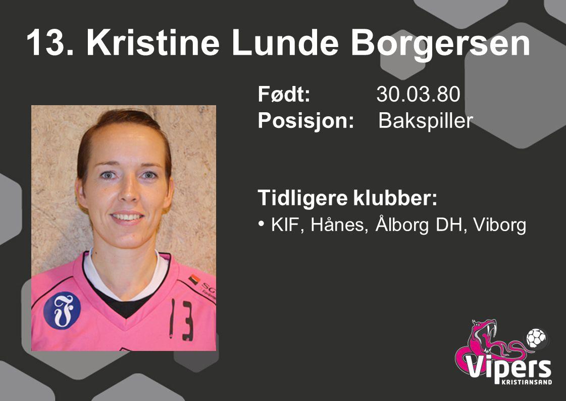 13. Kristine Lunde Borgersen