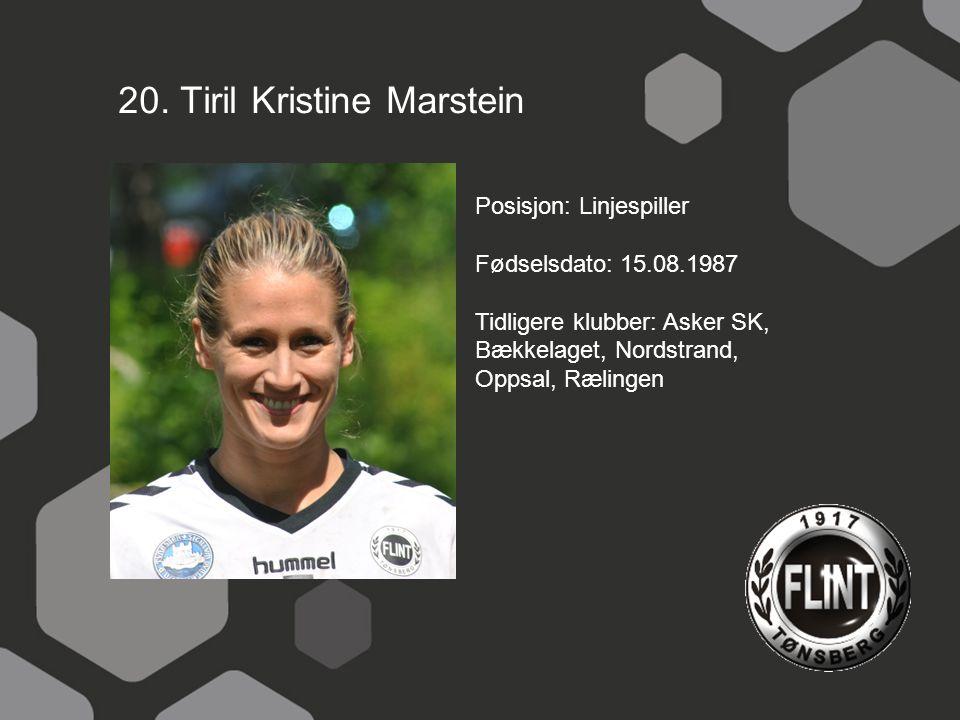 20. Tiril Kristine Marstein