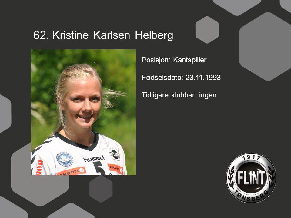 62. Kristine Karlsen Helberg