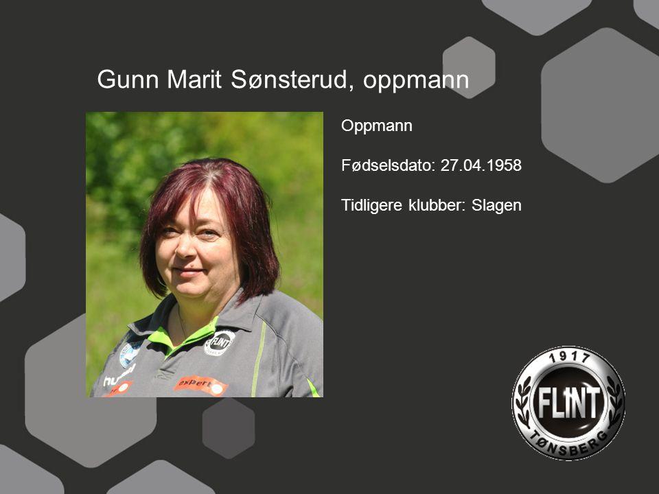 Gunn Marit Sønsterud, oppmann