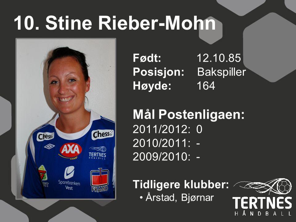 10. Stine Rieber-Mohn Mål Postenligaen: