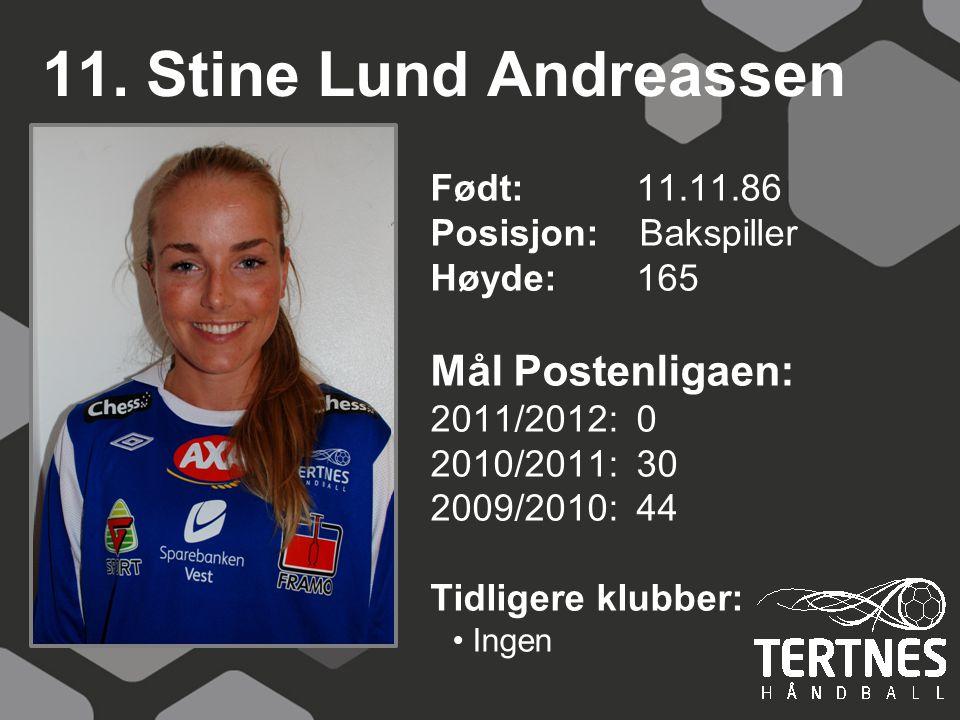 11. Stine Lund Andreassen Mål Postenligaen: