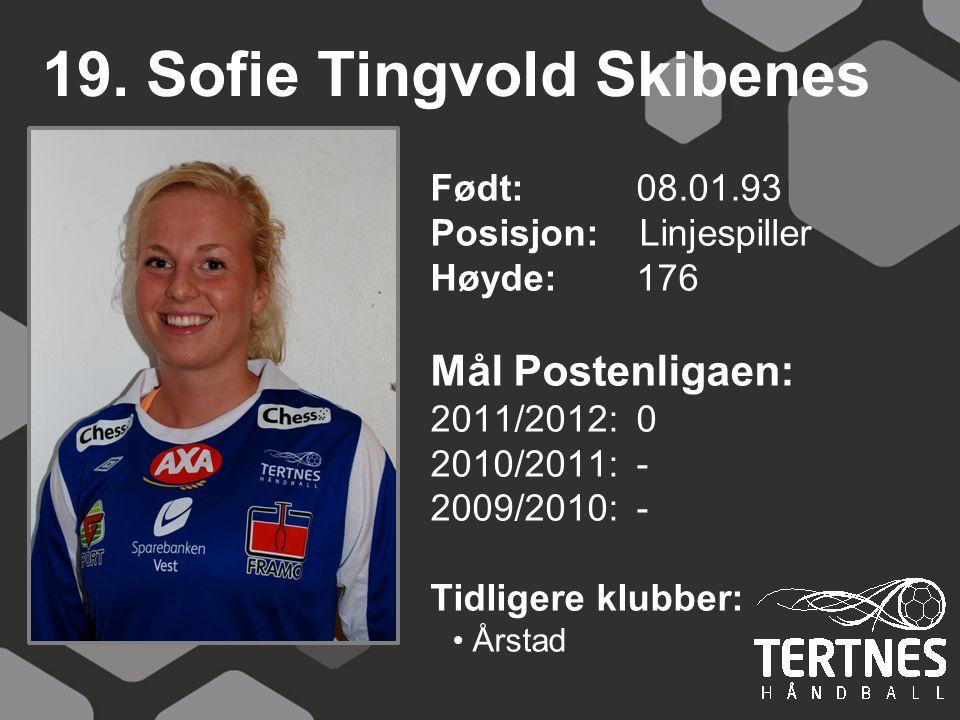 19. Sofie Tingvold Skibenes
