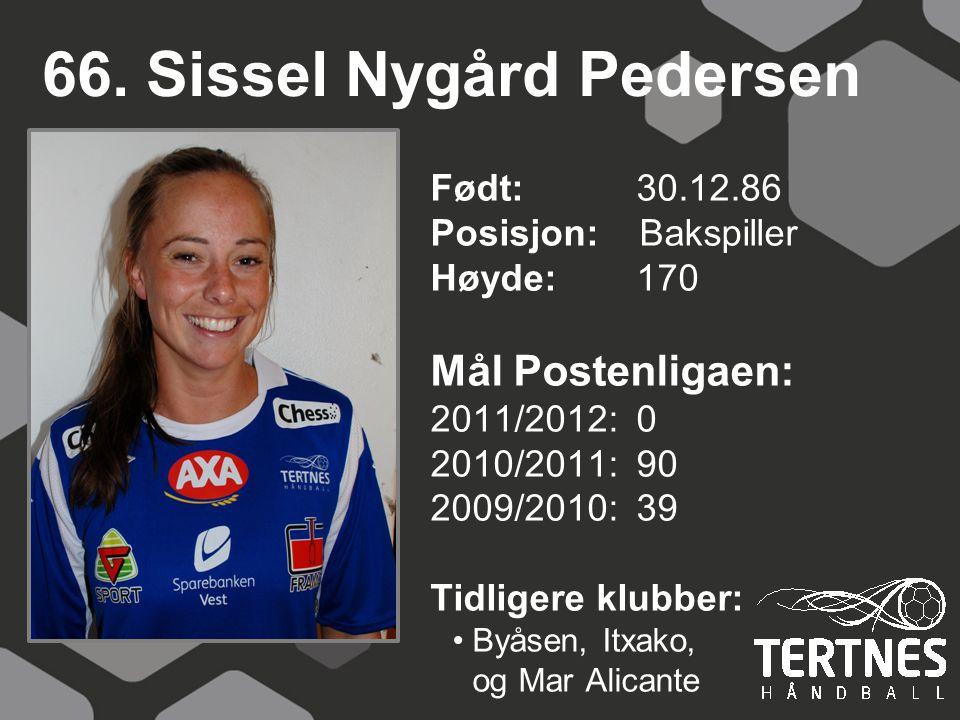 66. Sissel Nygård Pedersen