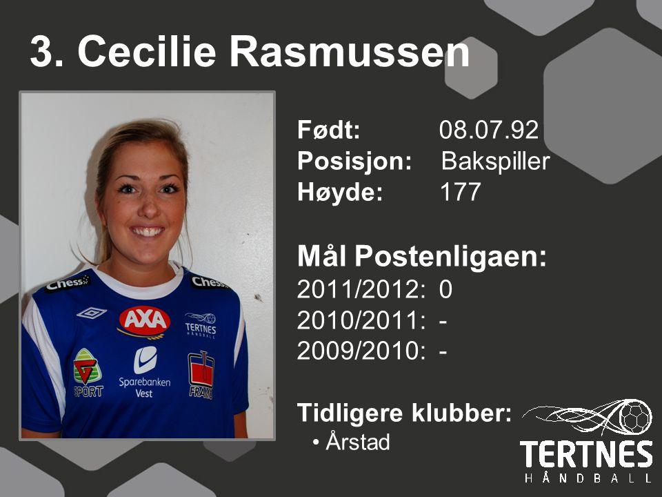 3. Cecilie Rasmussen Mål Postenligaen: