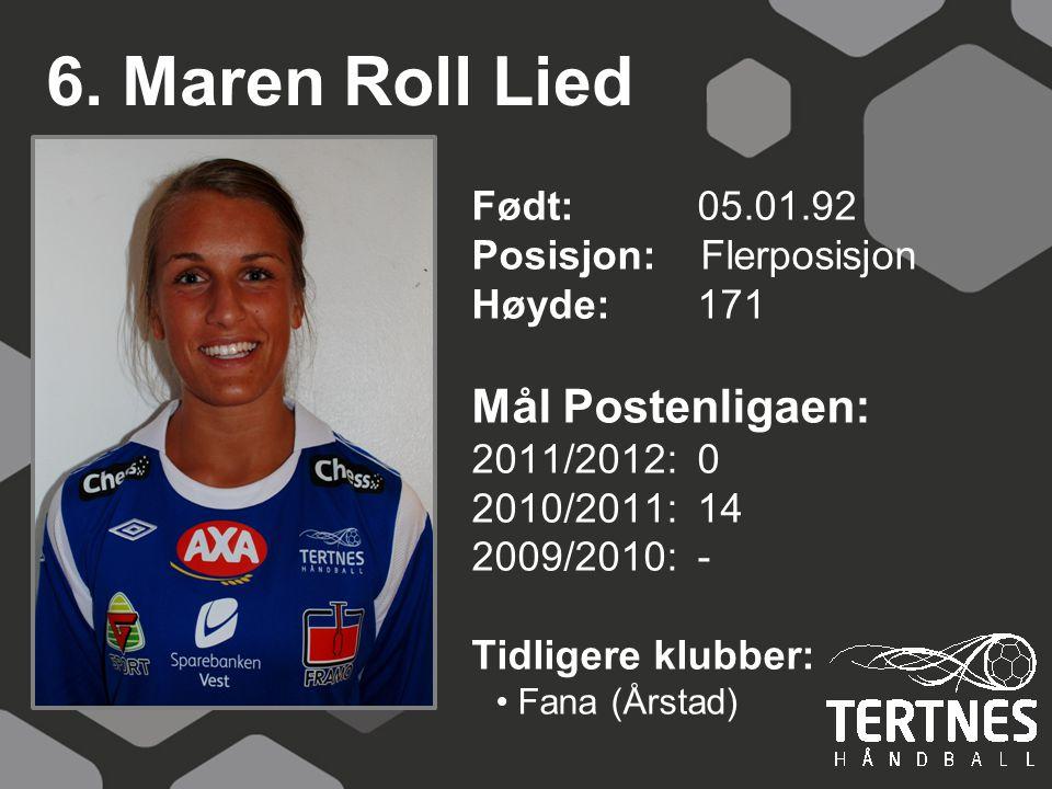 6. Maren Roll Lied Mål Postenligaen: