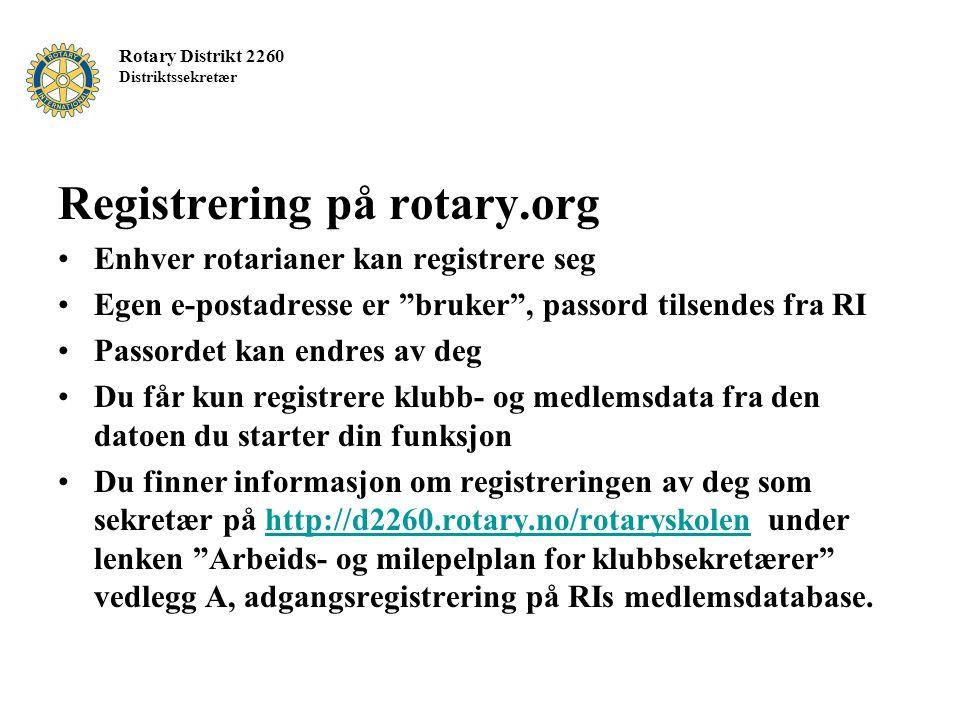 Registrering på rotary.org