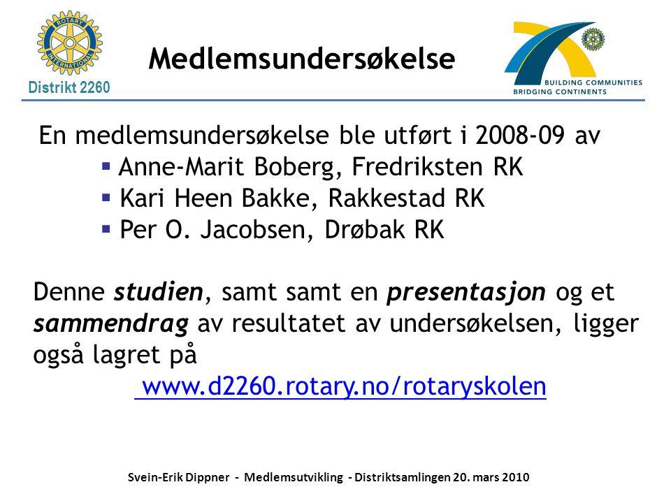 Medlemsundersøkelse En medlemsundersøkelse ble utført i 2008-09 av