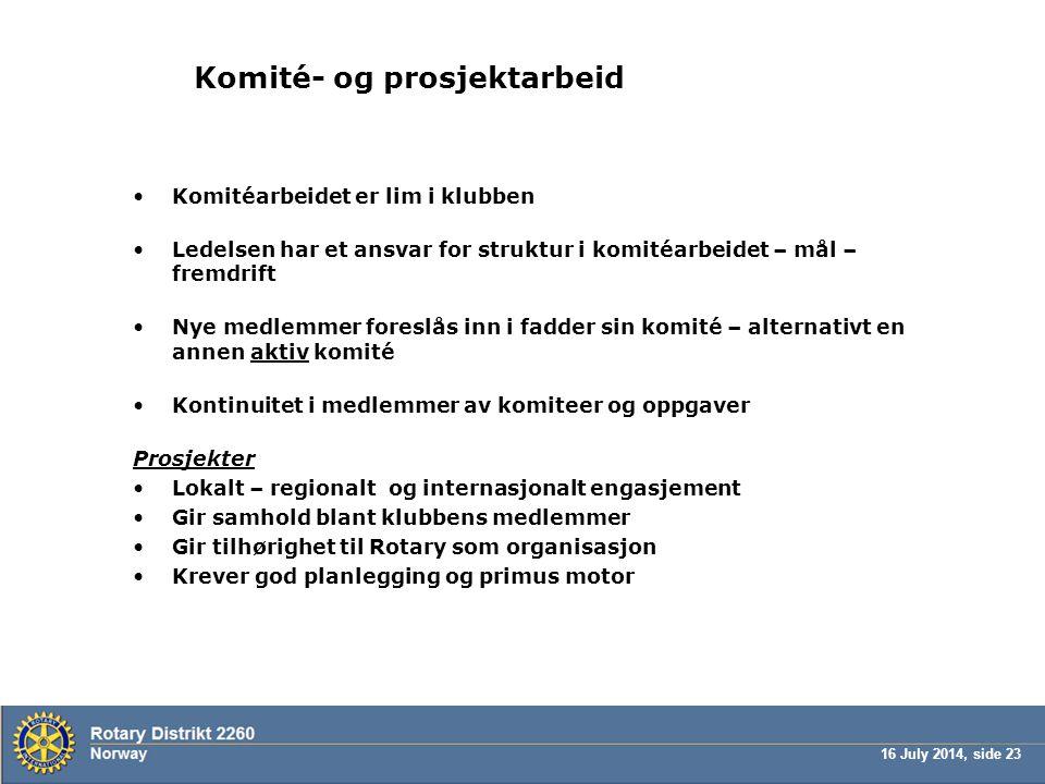 Komité- og prosjektarbeid