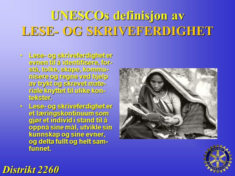 UNESCOs definisjon av LESE- OG SKRIVEFERDIGHET