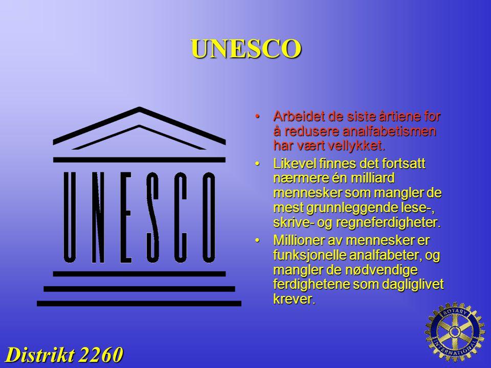 UNESCO Arbeidet de siste årtiene for å redusere analfabetismen har vært vellykket.