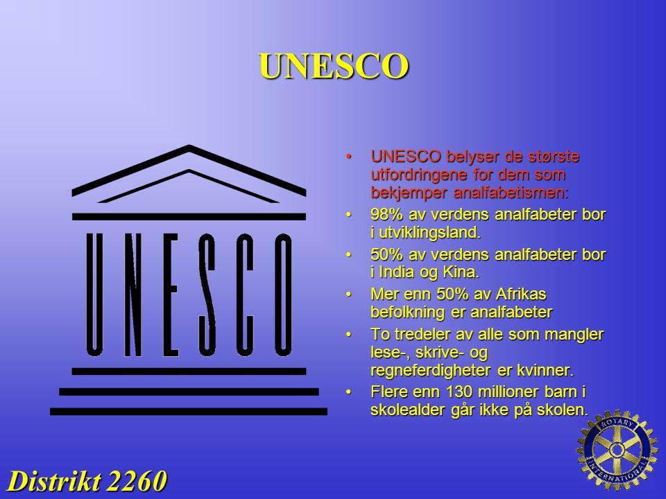 UNESCO UNESCO belyser de største utfordringene for dem som bekjemper analfabetismen: 98% av verdens analfabeter bor i utviklingsland.
