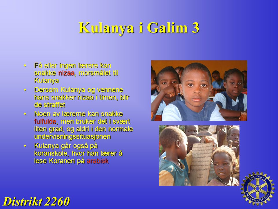 Kulanya i Galim 3 Distrikt 2260
