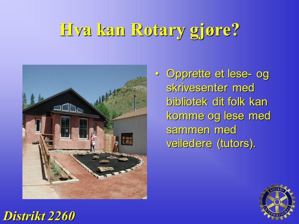 Hva kan Rotary gjøre Distrikt 2260