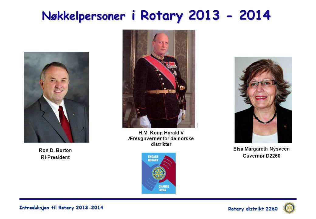 Nøkkelpersoner i Rotary 2013 - 2014