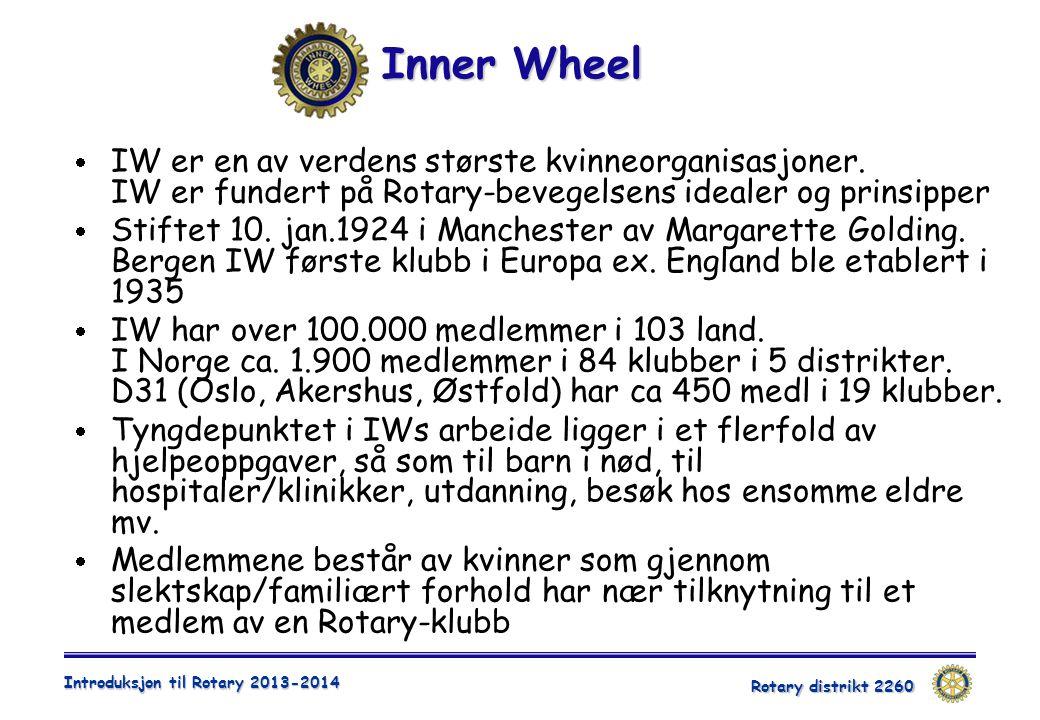 Inner Wheel IW er en av verdens største kvinneorganisasjoner. IW er fundert på Rotary-bevegelsens idealer og prinsipper.