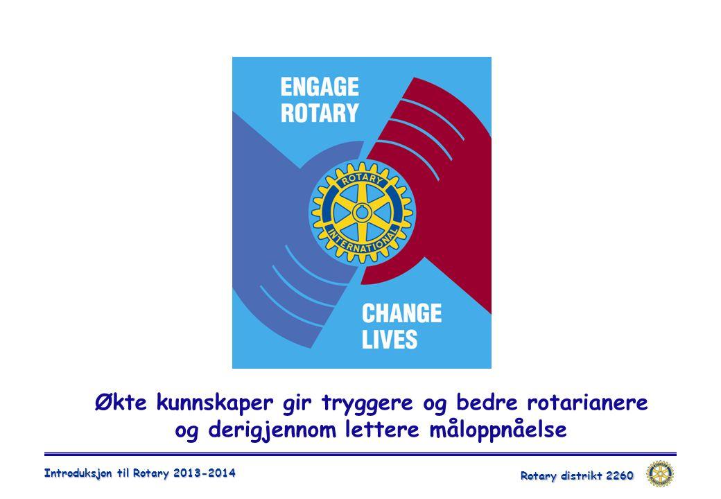 Økte kunnskaper gir tryggere og bedre rotarianere og derigjennom lettere måloppnåelse