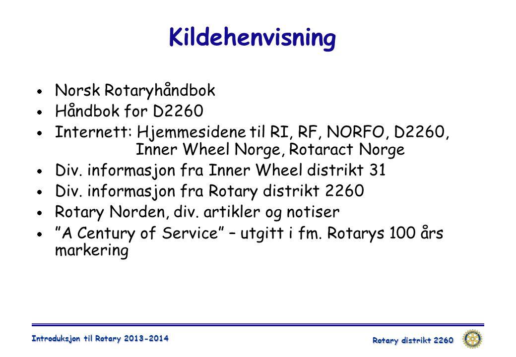 Kildehenvisning Norsk Rotaryhåndbok Håndbok for D2260